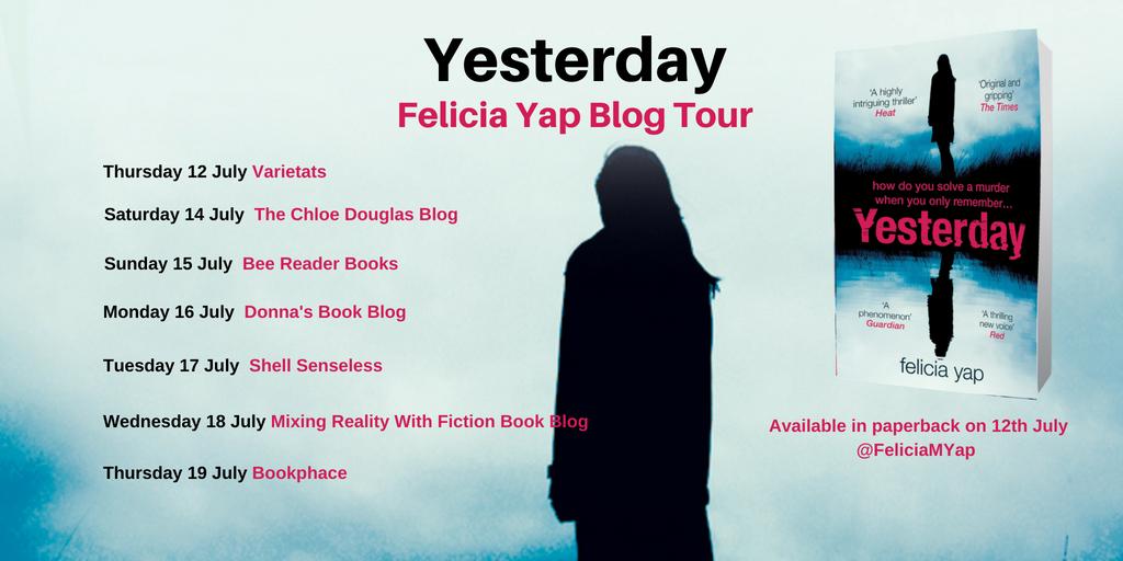 Yesterday blog tour poster