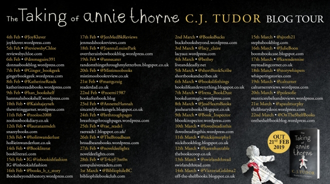 The Taking of Annie Thorne Blog Tour Banner